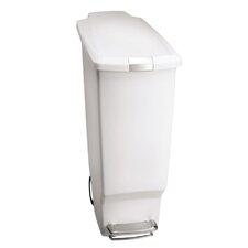 10.5-Gal. Slim Plastic Step Trash Can