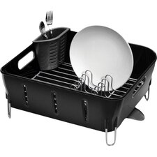 Plastic Compact Dishrack in Black