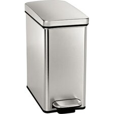 2.6 Gal. Stainless Steel Profile Step Trash Can
