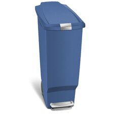 10.5-Gal. Slim Plastic Step Trash Can