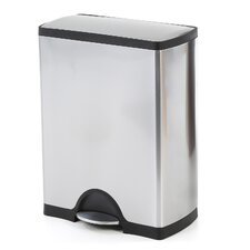 13.2 Gallon Rectangular Step Stainless Steel Trash Can