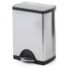 30L/8Gal, Rectangular Step Stainless Steel Trash Can
