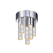 Champagne Staccato 6 Light Flush Mount