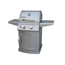 Falcon Series 2 Burner Gas Grill with Folding Shelves