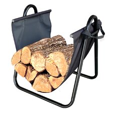 Firewood Log Holder with Canvas Carrier