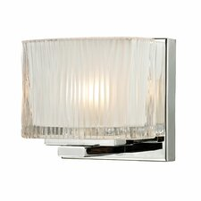 Chiseled Glass 1 Light Bath Vanity Light