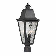 Forged Brookridge 3 Light Outdoor Post Light