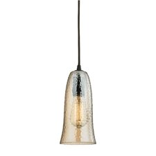Hammered Glass 1 Light Mini Pendant