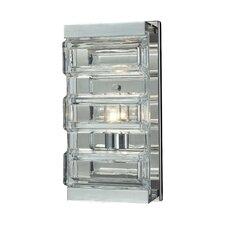 Corrugated Glass 1 Light Vanity Light