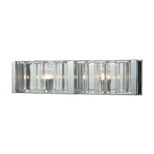 Corrugated Glass 2 Light Vanity Light