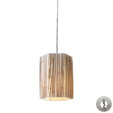 Modern Organics 1 Light Mini Pendant