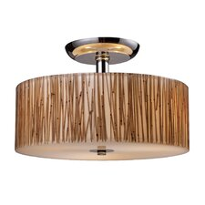 Modern Organics 3 Light Semi Flush