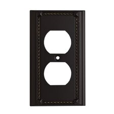 Clickplates Single Socket Plate in Aged Bronze