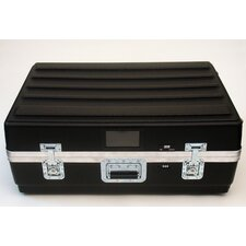 Heavy-Duty ATA Case with Wheels and Telescoping Handle in Black: 23 x 33.25 x 13.75