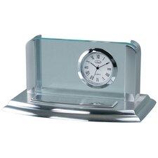 Business Card Holder Desk Clock