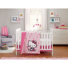 Cute as a Button 3 Piece Crib Bedding Set