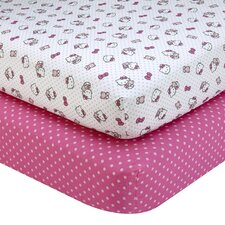Cute as a Button Fitted Crib Sheets (Set of 2)