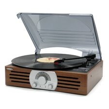 3 Speed Stereo Turntable with AM/FM Radio