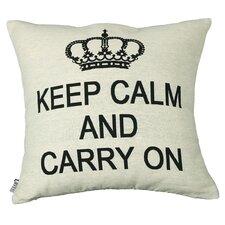 Urban Loft Keep Calm Carry On Throw Pillow