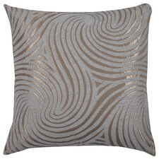 Urban Loft Swirly Feather Filled Throw Pillow