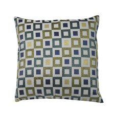 Urban Loft Squares Feather Filled Throw Pillow
