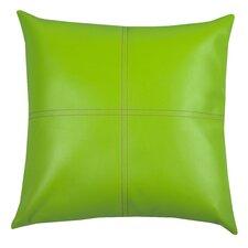 Urban Loft Fun Faux Leather Polyester Throw Pillow