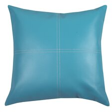Urban Loft Fun Faux Leather Polyester Throw Pillow