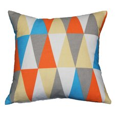 Couch Potatoes Retro Triangle Throw Pillow
