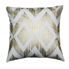 Couch Potatoes Foil Diamond Throw Pillow