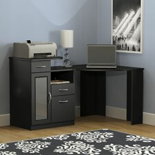Vantage Corner Computer Desk in Black