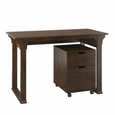 Mission Creek Writing Desk with 2 Drawer Mobile Pedestal