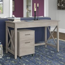 Key West Writing Desk with 2 Drawer Mobile Pedestal