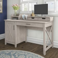 Key West Secretary Desk with Desktop Organizers