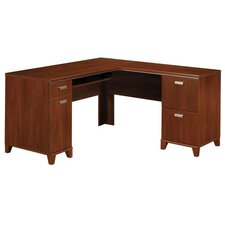 Tuxedo L-Shaped Executive Desk with Keyboard and Mouse Shelf
