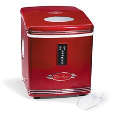 "Retro 12"" W 26 lb. Portable Ice Maker"