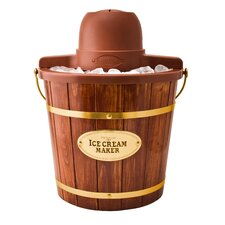 4 Qt. Wooden Bucket Electric Ice Cream Maker