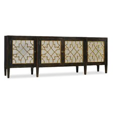 Hooker Furniture Living Room Sanctuary Four Door Mirrored Console