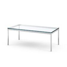 Florence Knoll Rectangular Coffee Table in Satin Chrome