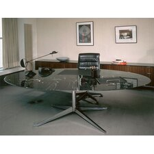 Florence Knoll Dining Table in Satin Chrome