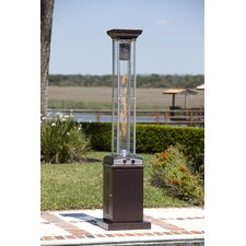 Hammered Square Flame Patio Heater