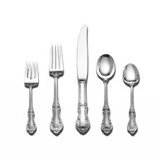 Sterling Silver Joan of Arc 46 Piece Dinner Flatware Set / Serving Setting