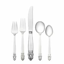 Sterling Silver Royal Danish 66 Piece Flatware Set with Soup Spoon