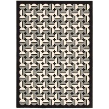 Griffith Black/Grey Geometric Area Rug