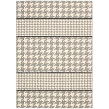 Griffith Dove Ivory/Grey Geometric Area Rug