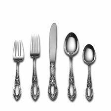 Sterling Silver King Richard 46 Piece Dinner Flatware and Serving Set