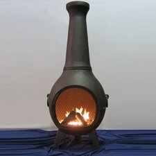 Aluminum Wood Prairie Chiminea