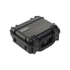 """Small Military Standard Waterproof Case (w/ Layered Foam) in Black - 9.25"""" H  x 7.125"""" W x 4.125"""" D (inside)"""