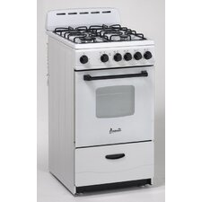 Gas Range in White
