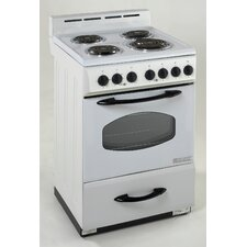 2.4 Cu. Ft Electric Range in White