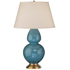"""Double Gourd 31"""" H Table Lamp with Empire Shade"""